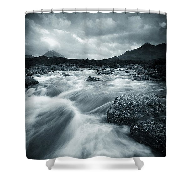 Dramatic Cuillin Shower Curtain