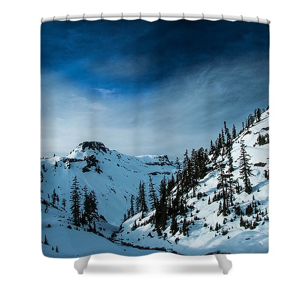 Dramatic Cycle Shower Curtain
