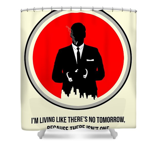 Draper Poster 2 Shower Curtain