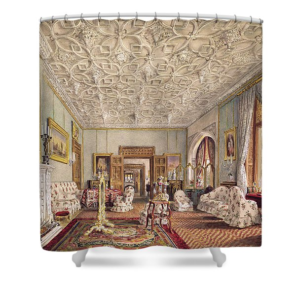Drawing Room In The Gothic Style, C.1850 Shower Curtain