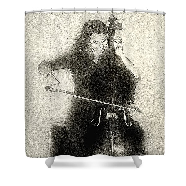 Drawing The Bow Shower Curtain