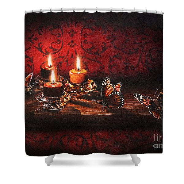 Drawn To The Flame Shower Curtain