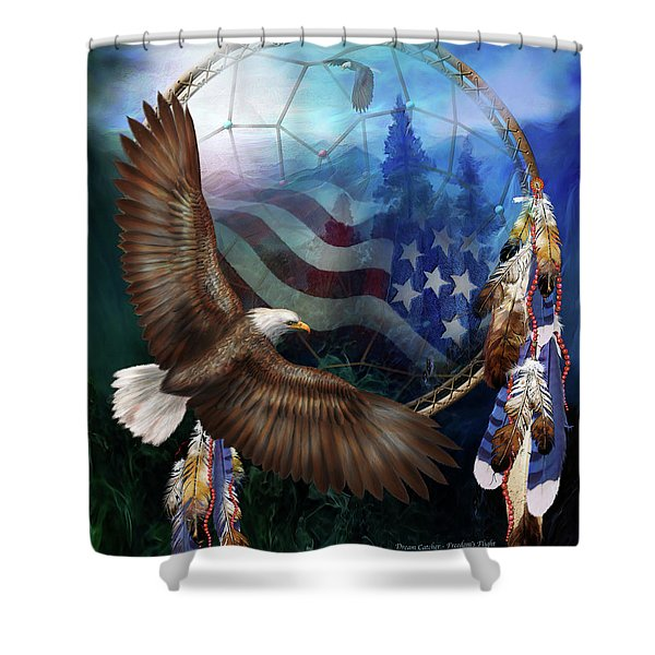 Dream Catcher - Freedom's Flight Shower Curtain