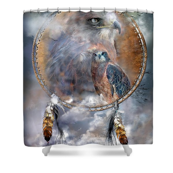 Dream Catcher - Hawk Spirit Shower Curtain