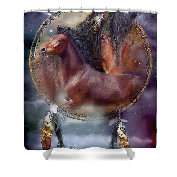 Dream Catcher - Spirit Horse Shower Curtain