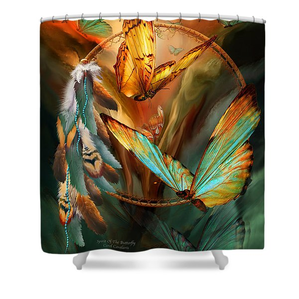 Dream Catcher - Spirit Of The Butterfly Shower Curtain
