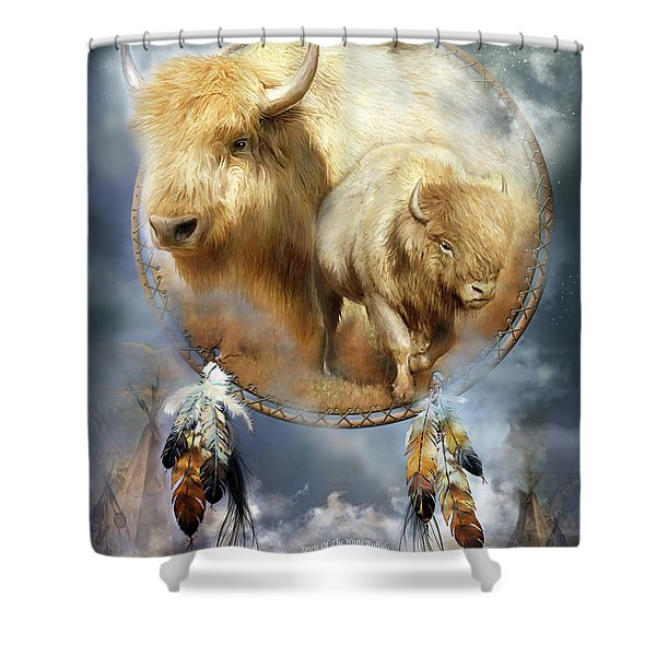 Dream Catcher - Spirit Of The White Buffalo Shower Curtain