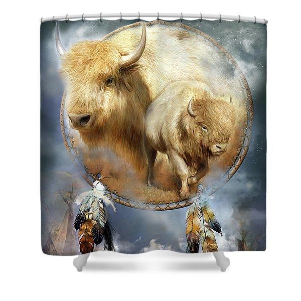 Dream Catcher - Spirit Of The White Buffalo Shower Curtain