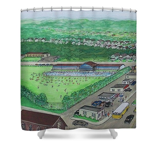Dreamland Swimming Pool In Portsmouth Ohio 1950s Shower Curtain