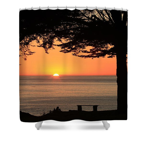 Dreamy Day's End Shower Curtain