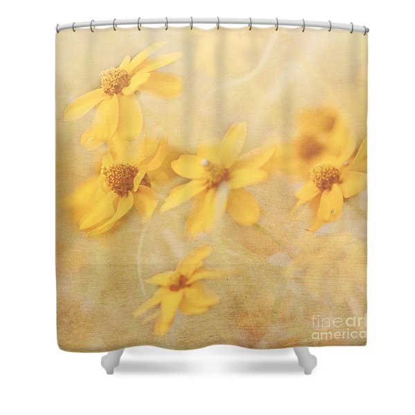 Dreamy Yellow Coreopsis Shower Curtain