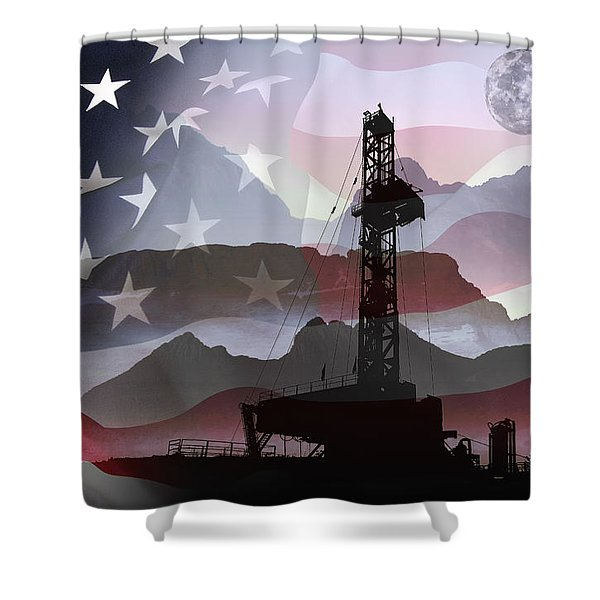 Drilling For America Shower Curtain