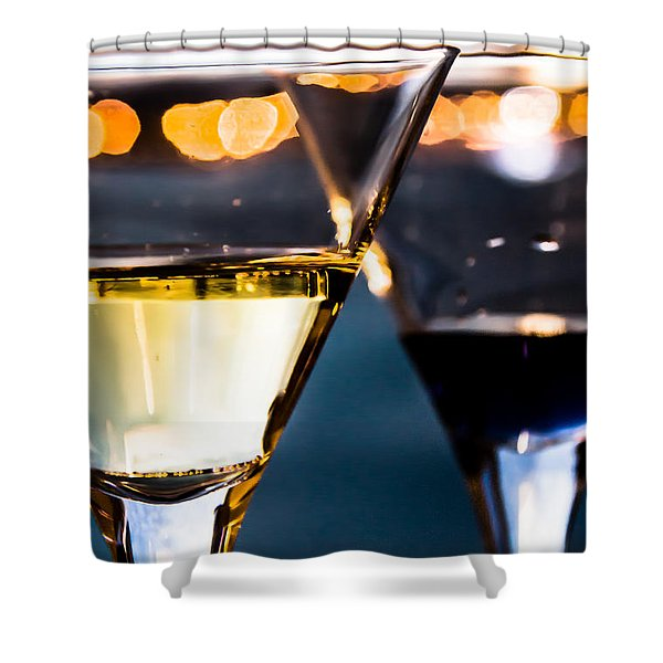 Drinks Are Ready Shower Curtain