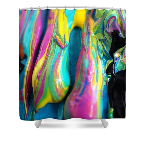 Dripping Paint #3 Shower Curtain