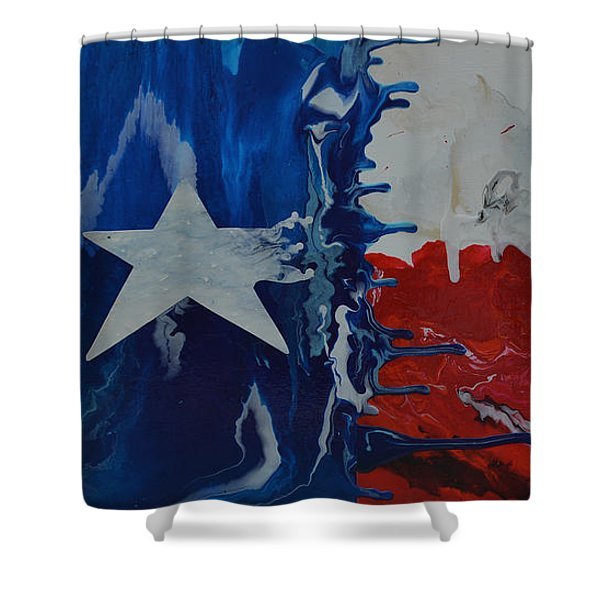 Drips Of Texas Color Shower Curtain