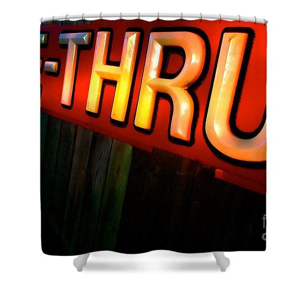 Drive Thru Shower Curtain