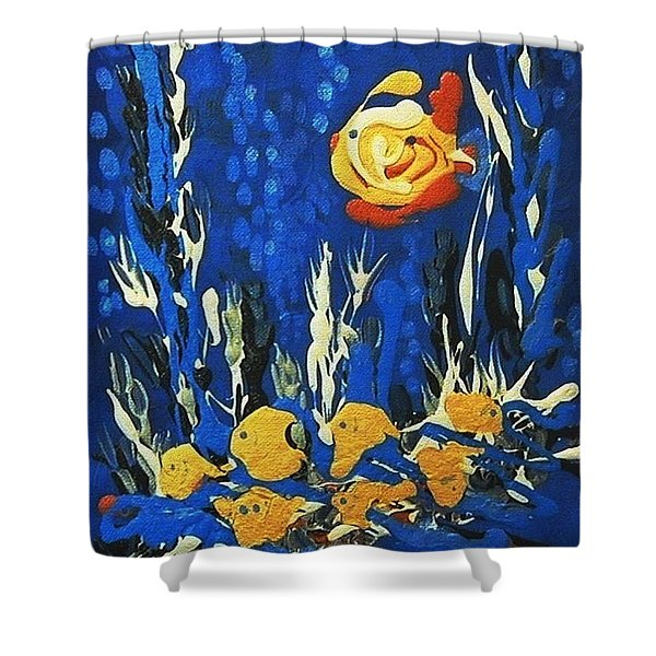 Drizzlefish Shower Curtain