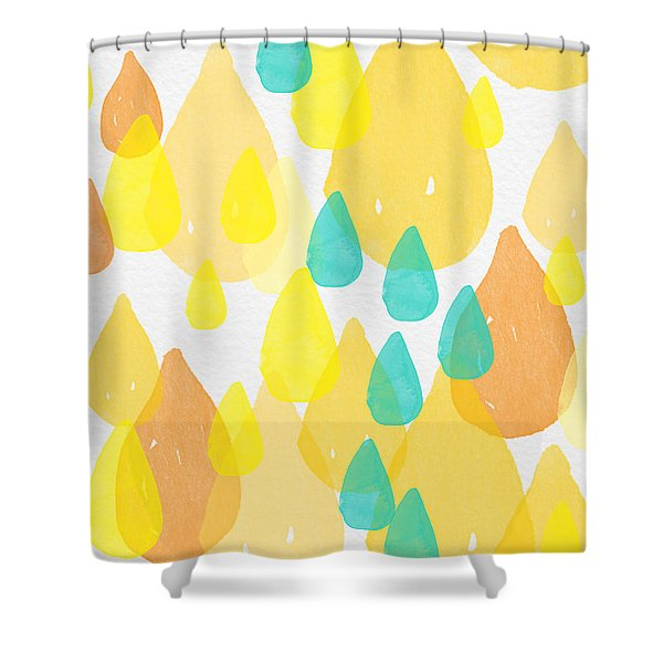 Drops Of Sunshine- Abstract Painting Shower Curtain