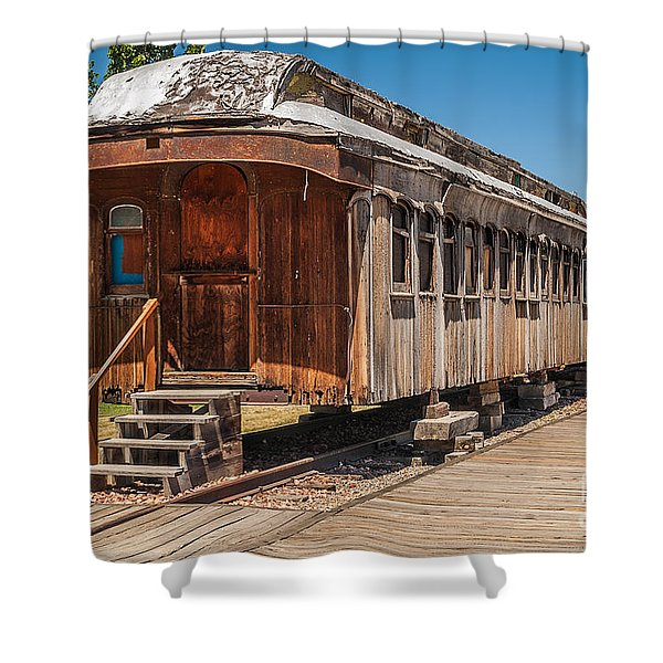 Drover And Cattle Cars Shower Curtain