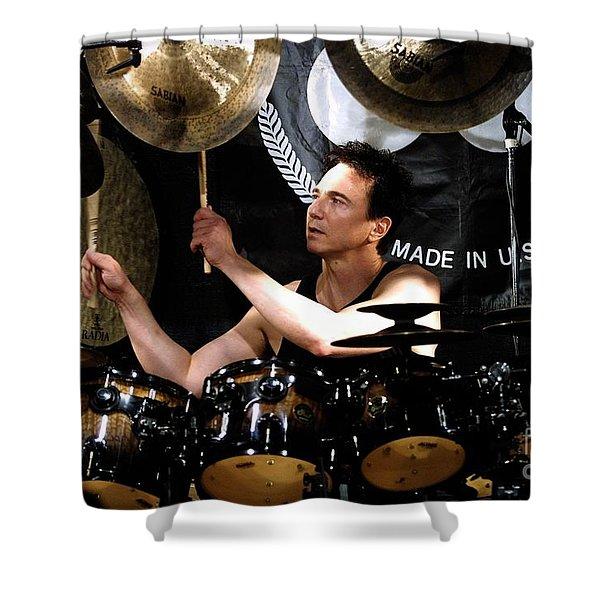 Drummer Terry Bozzio Shower Curtain