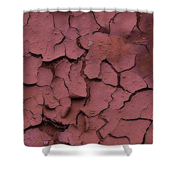 Dry Cracked Earth Shower Curtain