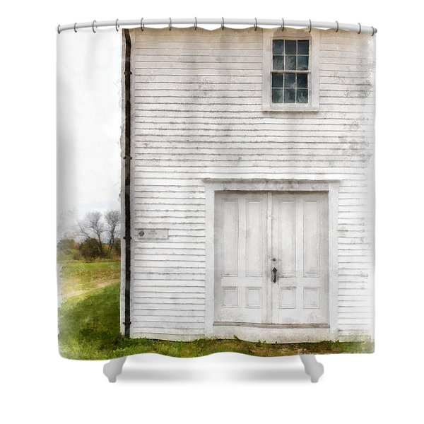 Dry House Canterburry Shaker Villiage Watercolor Shower Curtain