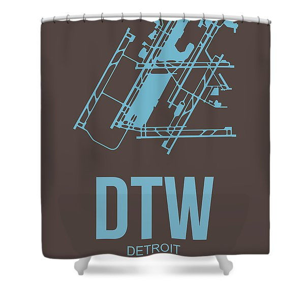 Dtw Detroit Airport Poster 1 Shower Curtain