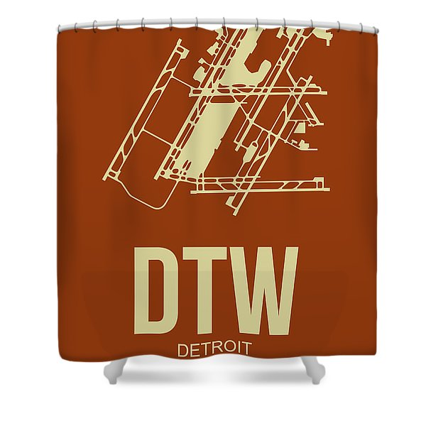 Dtw Detroit Airport Poster 2 Shower Curtain
