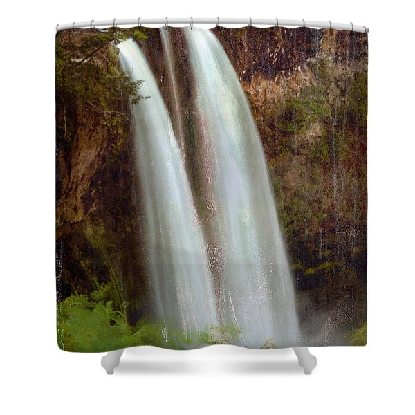 Duel Falls Shower Curtain