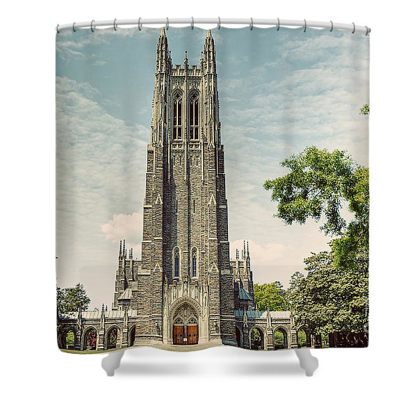 Duke Chapel With A Vintage Feel Shower Curtain