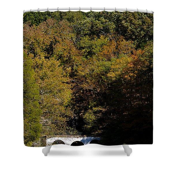 Dunbar Cave And Swan Lake Shower Curtain