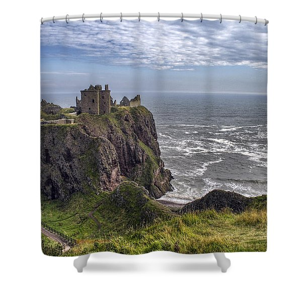Dunnottar Castle And The Scotland Coast Shower Curtain