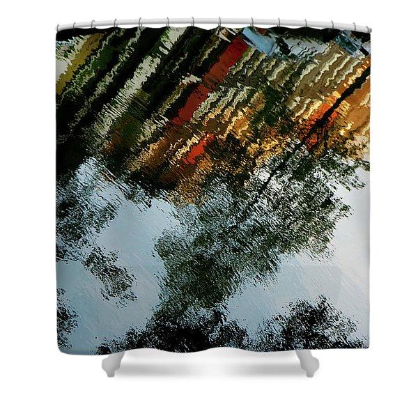 Dutch Canal Reflection Shower Curtain