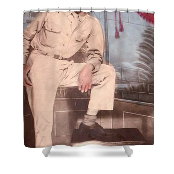 Duty To God And Country Shower Curtain