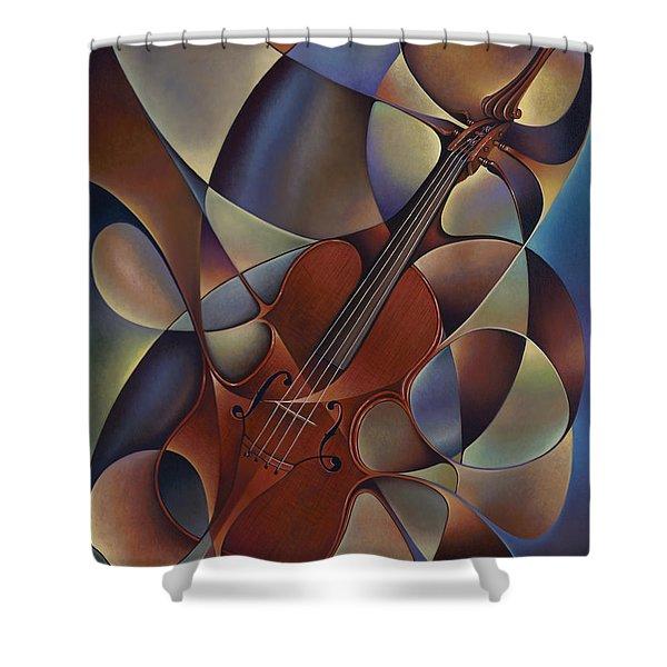 Dynamic Violin Shower Curtain