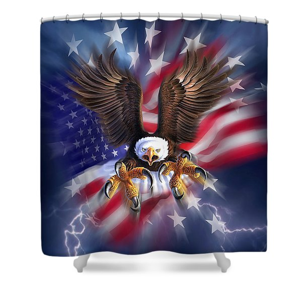 Eagle Burst Shower Curtain