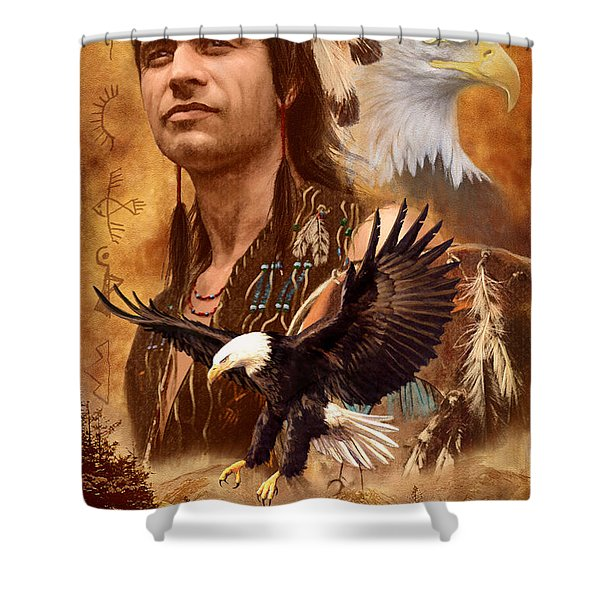 Eagle Montage Shower Curtain