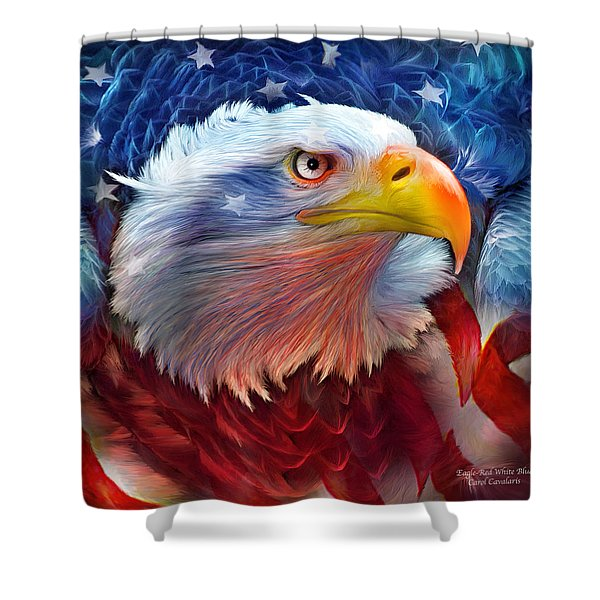 Eagle Red White Blue Shower Curtain