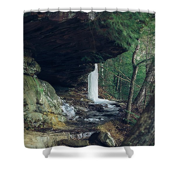 Eaglefalls Trail In Winter Shower Curtain