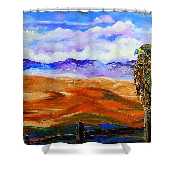 Eagles Watch Shower Curtain