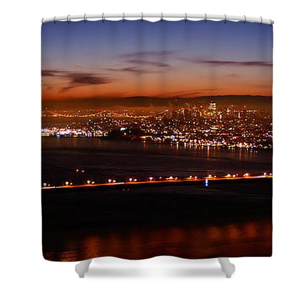Early December Morning Pano Shower Curtain