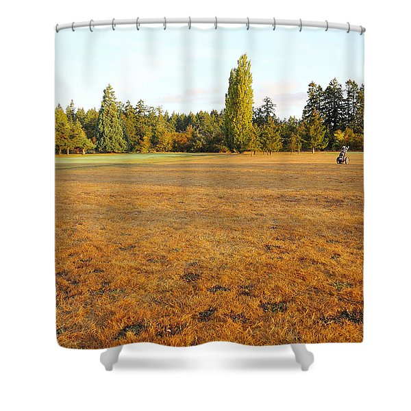 Early Fall Morning In The Rough On The Golf Course Shower Curtain