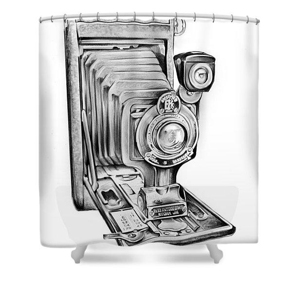 Early Kodak Camera Shower Curtain