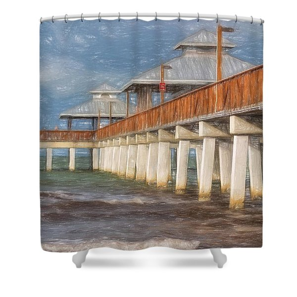 Early Morning At Fort Myers Beach Shower Curtain