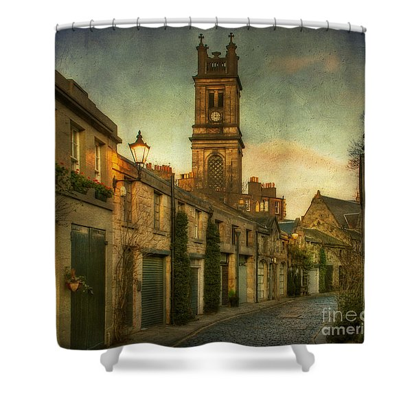 Early Morning Edinburgh Shower Curtain
