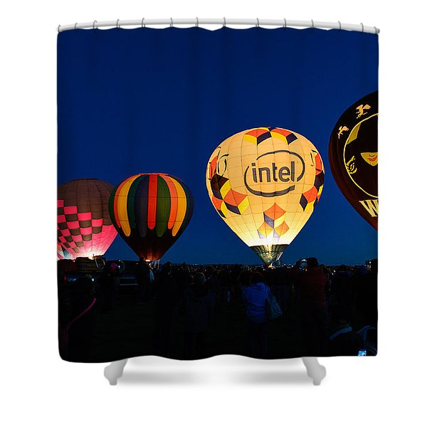 Early Morning Launch Shower Curtain