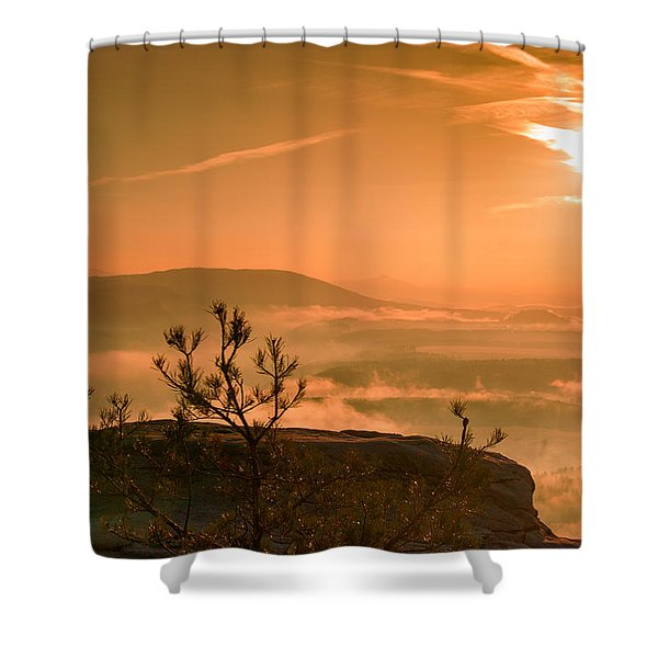 Early Morning On The Lilienstein Shower Curtain