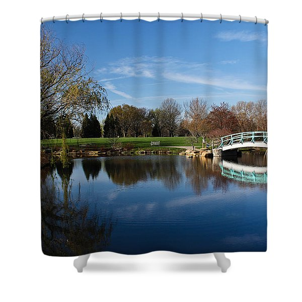 Early Morning Retreat Shower Curtain