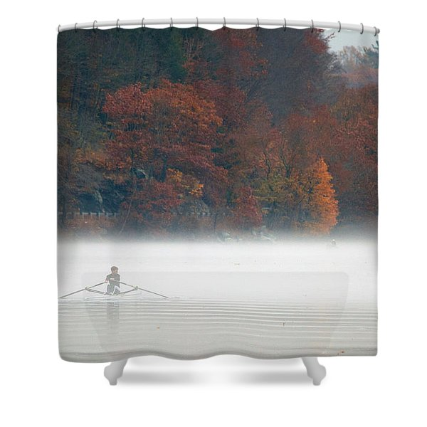 Early Morning Row Shower Curtain
