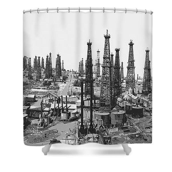 Early Oil Field Shower Curtain